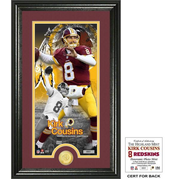 "Kirk Cousins ""Supreme"" Bronze Coin Panoramic Photo Mint"