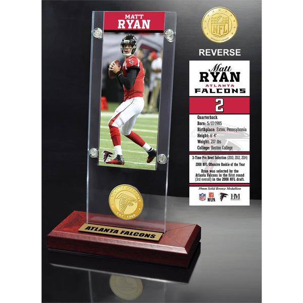 Matt Ryan Ticket & Bronze Coin Ticket Acrylic