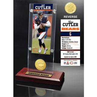 Jay Cutler Ticket & Bronze Coin Ticket Acrylic