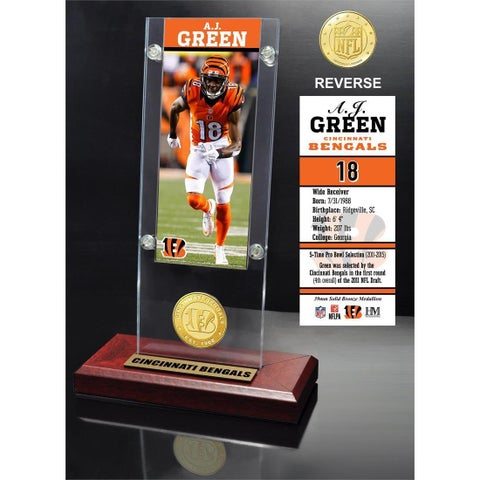 A.J. Green Ticket & Bronze Coin Ticket Acrylic