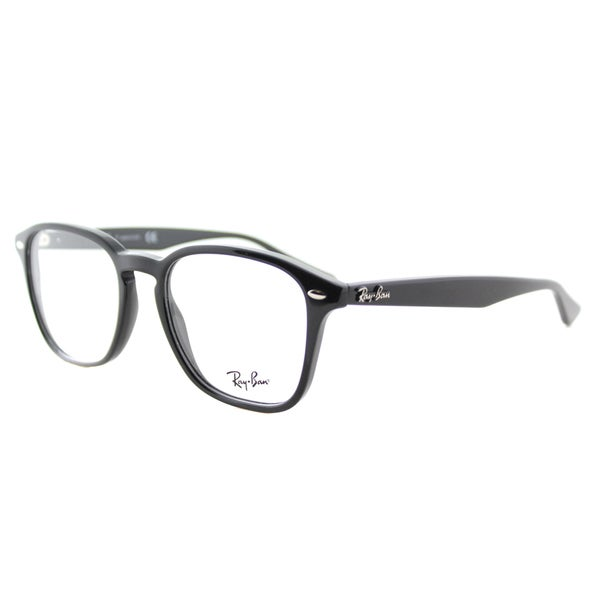 170443852f Shop Ray-Ban RX 5352 2000 Shiny Black Plastic Square 52mm Eyeglasses ...