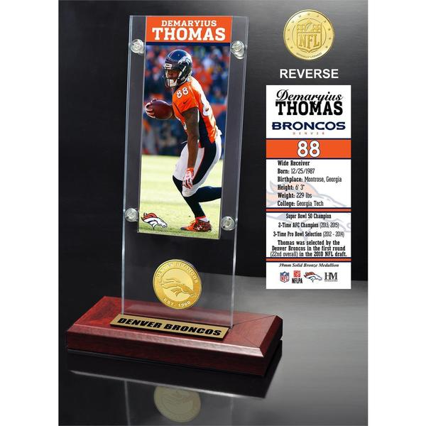 Demaryius Thomas Ticket & Bronze Coin Ticket Acrylic