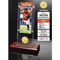 Von Miller Ticket & Bronze Coin Ticket Acrylic
