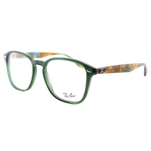 67cd1f788c8c4 Shop Ray-Ban RX 5352 5630 Opal Green Plastic Square 52mm Eyeglasses ...