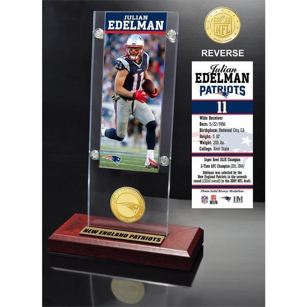 Julian Edelman Ticket & Bronze Coin Ticket Acrylic