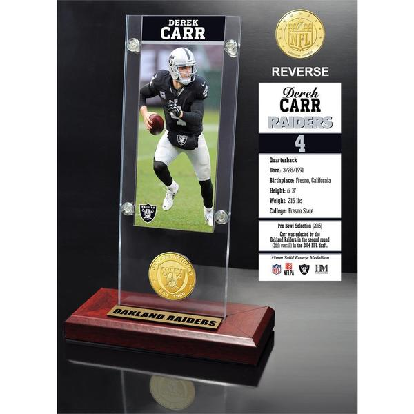 Derek Carr Ticket & Bronze Coin Ticket Acrylic