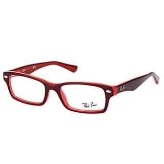 Ray-Ban RY 1530 3664 Red On Fluorescent Red Plastic Rectangle 48mm Eyeglasses