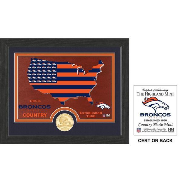 "Denver Broncos ""Country"" Bronze Coin Photo Mint"