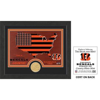 "Cincinnati Bengals ""Country"" Bronze Coin Photo Mint"