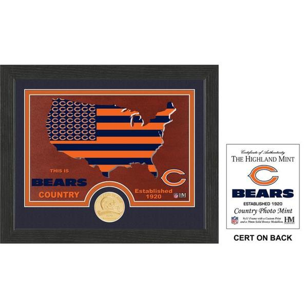 """Chicago Bears """"Country"""" Bronze Coin Photo Mint"""