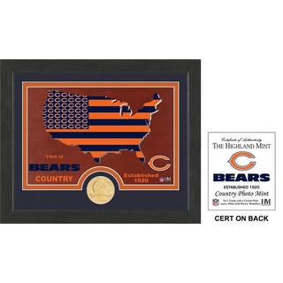 "Chicago Bears ""Country"" Bronze Coin Photo Mint"