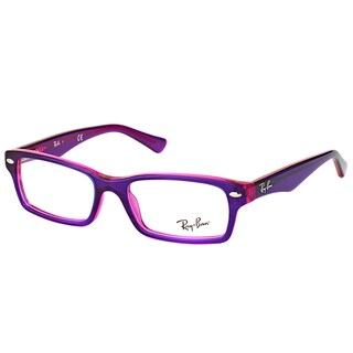 Ray-Ban RY 1530 3666 Violet On Fluorescent Fuxia Plastic Rectangle 48mm Eyeglasses