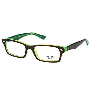 Ray-Ban RY 1530 3665 Brown On Fluorescent Green Plastic Rectangle 48mm Eyeglasses