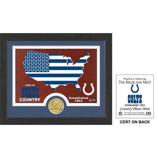 """Indianapolis Colts """"Country"""" Bronze Coin Photo Mint"""