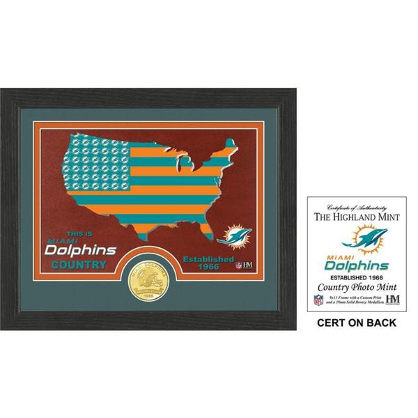 """Miami Dolphins """"Country"""" Bronze Coin Photo Mint"""
