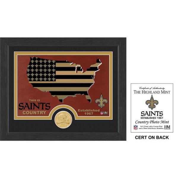 """New Orleans Saints """"Country"""" Bronze Coin Photo Mint"""