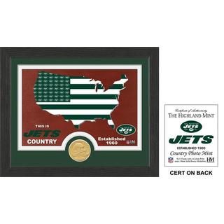 "New York Jets ""Country"" Bronze Coin Photo Mint"