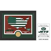 """New York Jets """"Country"""" Bronze Coin Photo Mint"""
