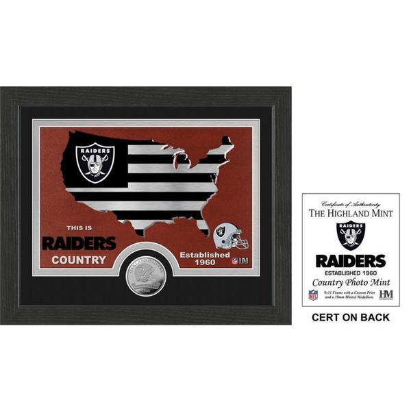 "Oakland Raiders ""Country"" Minted Coin Photo Mint"