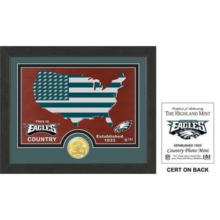 "Philadelphia Eagles ""Country"" Bronze Coin Photo Mint"
