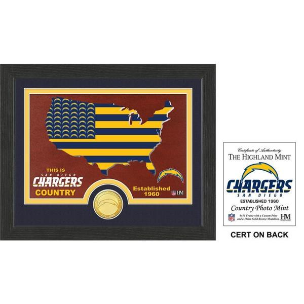 """San Diego Chargers """"Country"""" Bronze Coin Photo Mint"""