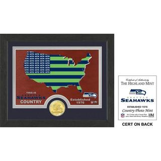 "Seattle Seahawks ""Country"" Bronze Coin Photo Mint - Multi-color"