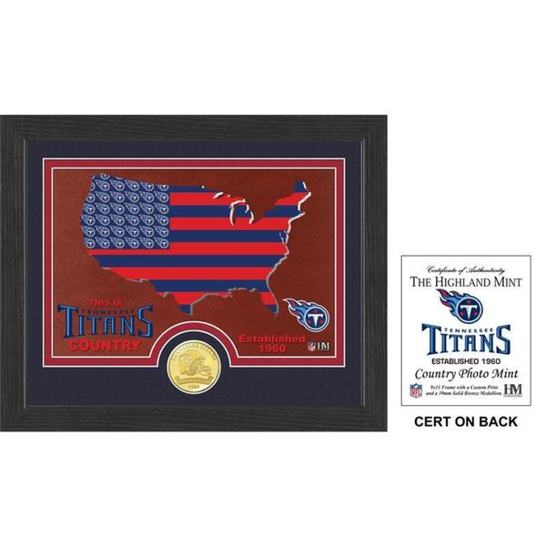 "Tennessee Titans ""Country"" Bronze Coin Photo Mint"