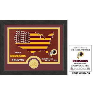 "Washington Redskins ""Country"" Bronze Coin Photo Mint"