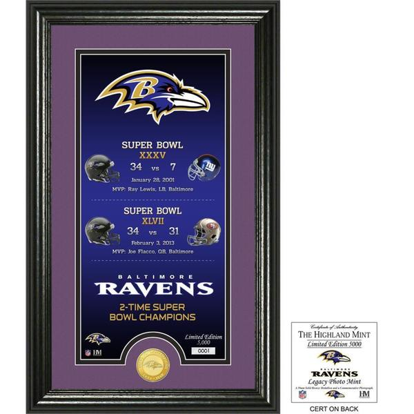"Baltimore Ravens ""Legacy"" Bronze Coin Photo Mint"
