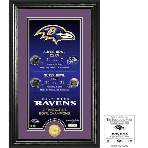 "Baltimore Ravens ""Legacy"" Bronze Coin Photo Mint - Multi-color"