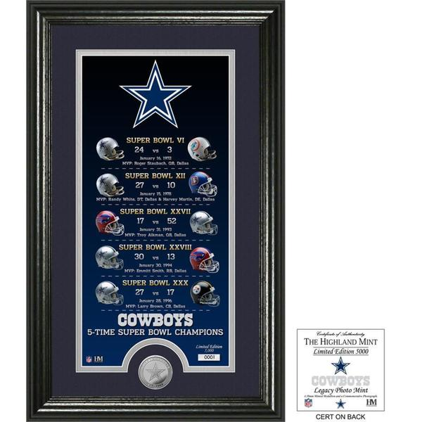 "Dallas Cowboys ""Legacy"" Minted Coin Photo Mint - Multi-color"
