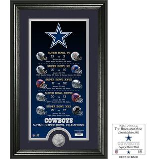 "Dallas Cowboys ""Legacy"" Minted Coin Photo Mint"