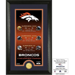 "Denver Broncos ""Legacy"" Bronze Coin Photo Mint - Multi-color"