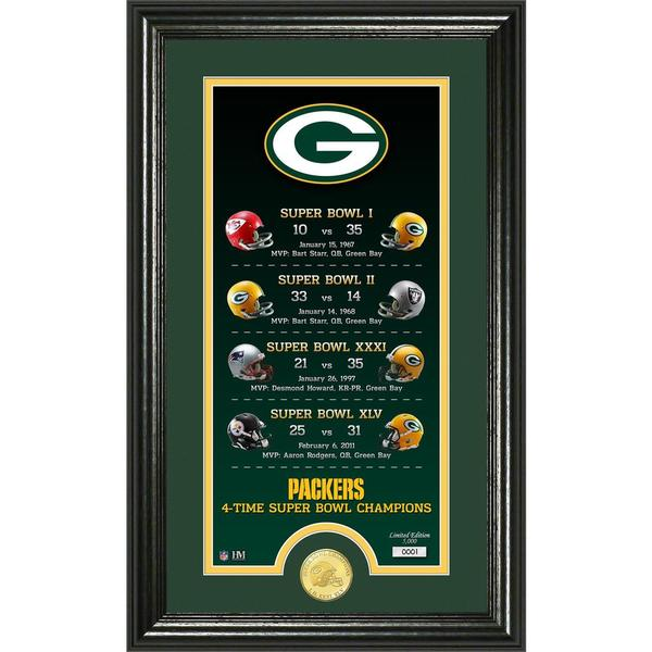 "Green Bay Packers ""Legacy"" Bronze Coin Photo Mint"