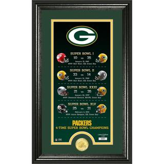 """Green Bay Packers """"Legacy"""" Bronze Coin Photo Mint - Multi-color"""