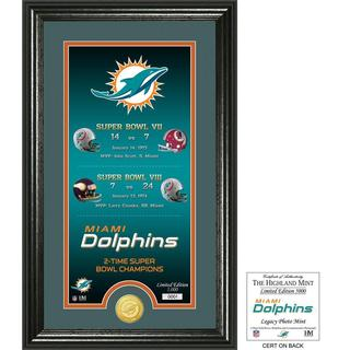 """Miami Dolphins """"Legacy"""" Bronze Coin Photo Mint - Multi-color"""