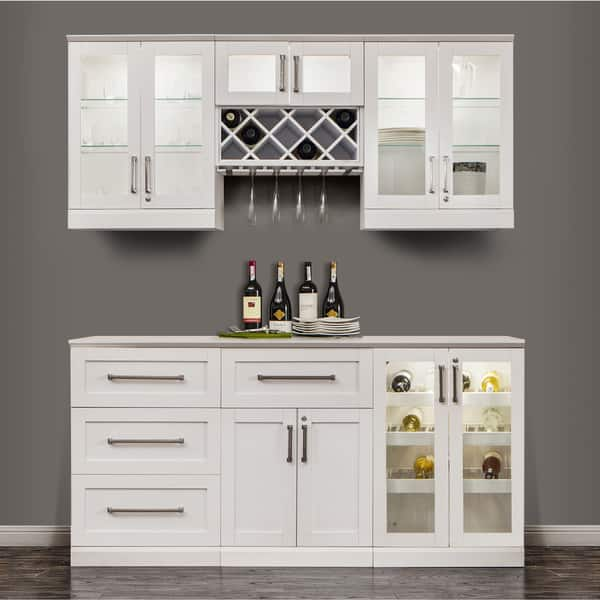 Shop Newage Products 72 Inch Wide 7 Piece White Shaker Style Home
