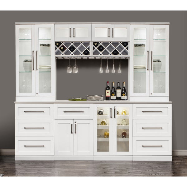 NewAge Products White Wood Shaker Style Home Bar