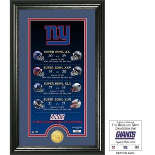 "New York Giants ""Legacy"" Bronze Coin Photo Mint"