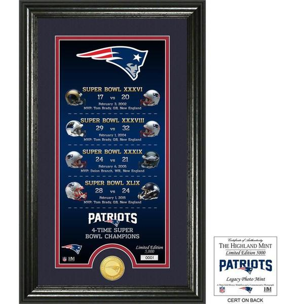 "New England Patriots ""Legacy"" Bronze Coin Photo Mint"