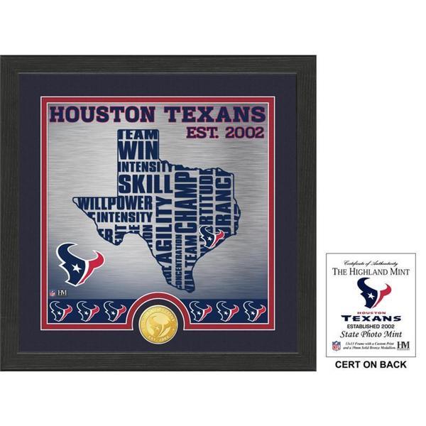 "Houston Texans ""State"" Bronze Coin Photo Mint"
