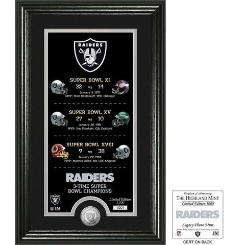 "Oakland Raiders ""Legacy"" Minted Coin Photo Mint - Multi-color"