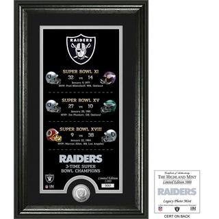 "Oakland Raiders ""Legacy"" Minted Coin Photo Mint