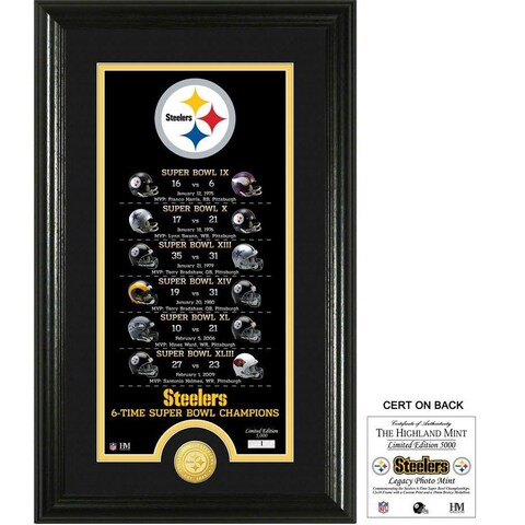"Pittsburgh Steelers ""Legacy"" Bronze Coin Photo Mint"