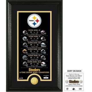 "Pittsburgh Steelers ""Legacy"" Bronze Coin Photo Mint