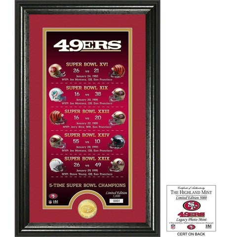 "San Francisco 49ers ""Legacy"" Bronze Coin Photo Mint"