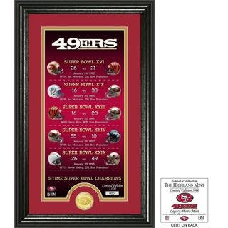 "San Francisco 49ers ""Legacy"" Bronze Coin Photo Mint