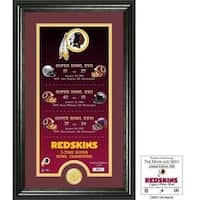 "Washington Redskins ""Legacy"" Bronze Coin Photo Mint"