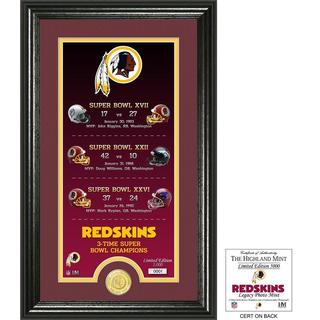 "Washington Redskins ""Legacy"" Bronze Coin Photo Mint - Multi-color"