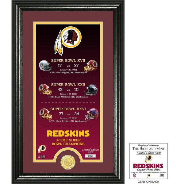 "Washington Redskins ""Legacy"" Bronze Coin Photo Mint"